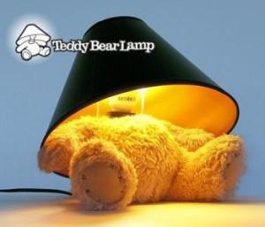 no head teddy lamp