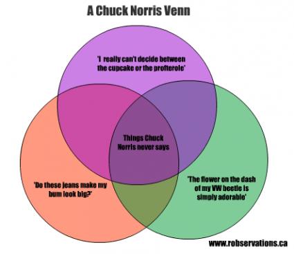 Robservations The Blog Of Robert Booth Chuck Norris Venn Diagram