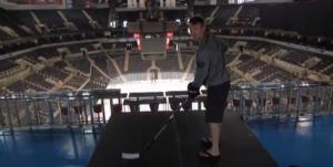 fan zone hockey goal