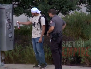 graffiti police prank
